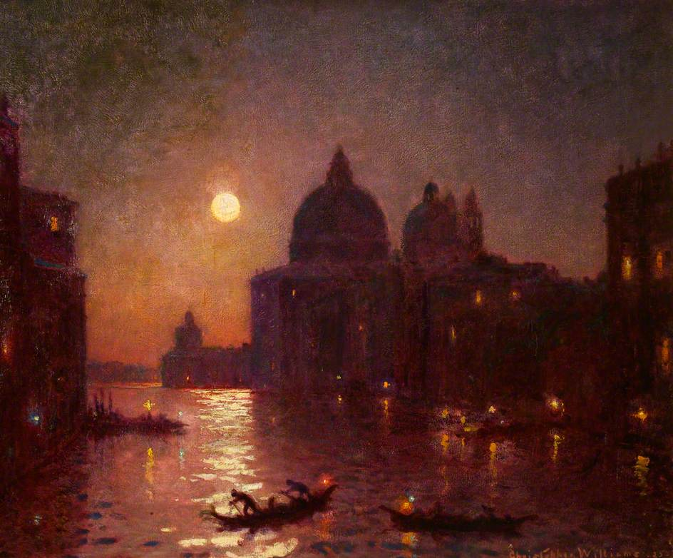 Williams, Christopher, 1873-1934; Venice, Moonlight