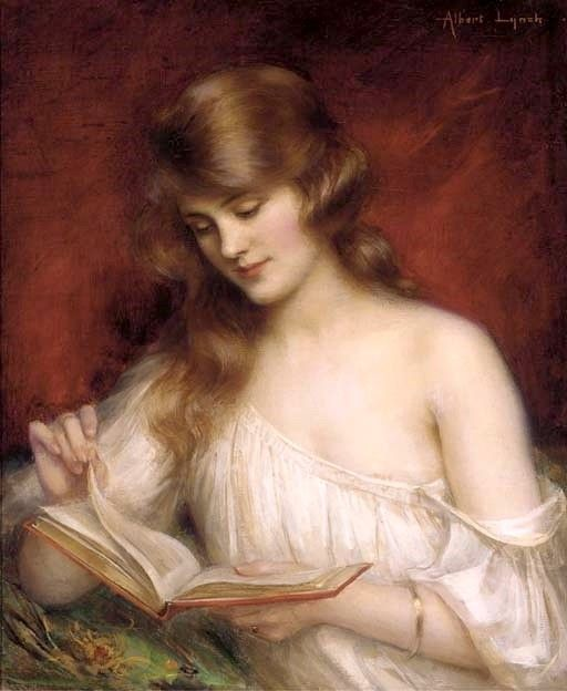 A-Quiet-Read-Albert-Lynch-Oil-Painting